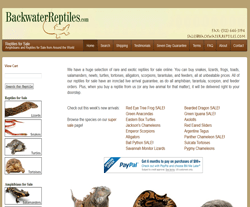 Backwater Reptiles Coupon & Deals